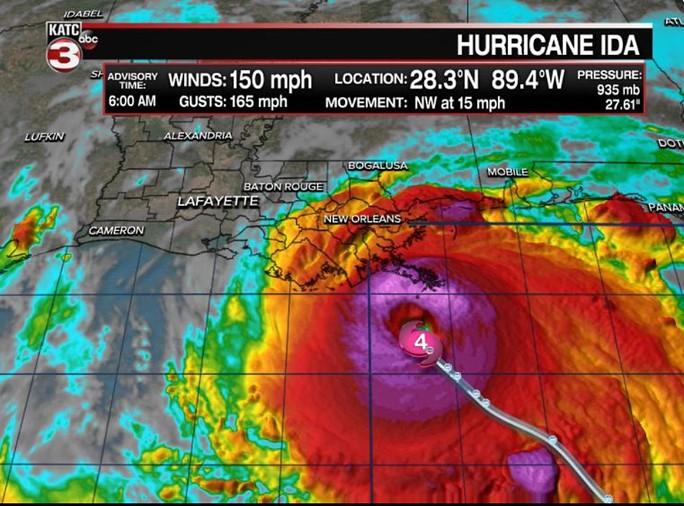 Bóng ma Katrina áp sát Mỹ - Ảnh 1.