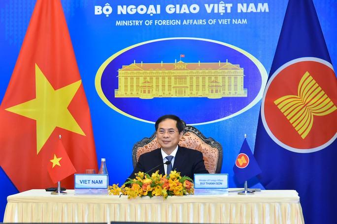 Bộ trưởng Ngoại giao Việt Nam - Nhật Bản bắt tay trực tuyến - Ảnh 2.