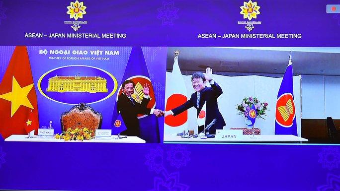 Bộ trưởng Ngoại giao Việt Nam - Nhật Bản bắt tay trực tuyến - Ảnh 1.