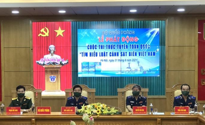Nhiều giải thưởng thi trực tuyến toàn quốc Tìm hiểu Luật Cảnh sát biển Việt Nam - Ảnh 1.
