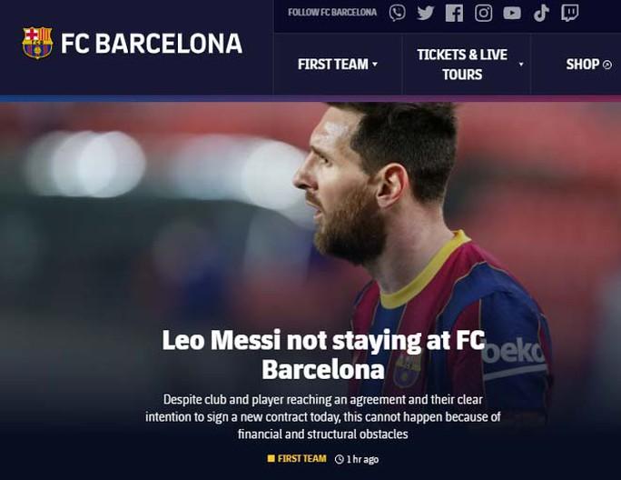 Chấn động: Barcelona và Messi chia tay - Ảnh 1.