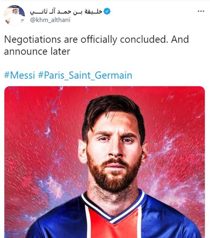 Hoàng thân Qatar báo tin vui, Messi chờ tái ngộ Neymar ở PSG - Ảnh 1.