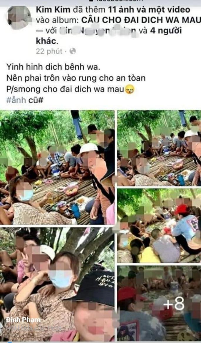 """21 nam, nữ vào rừng nhậu rồi """"khoe"""" trên Facebook, bị phạt 210 triệu đồng - Ảnh 1."""