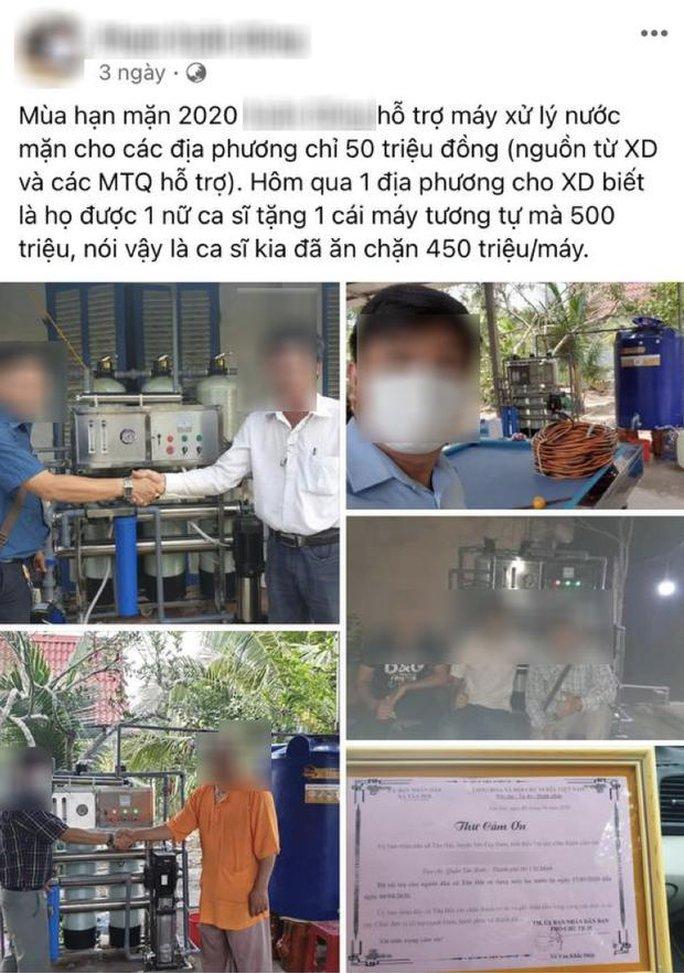 Sự thật việc Thủy Tiên bị nghi ăn 450 triệu/1 máy lọc nước cứu trợ - Ảnh 1.