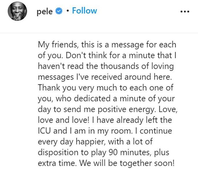 Vua Pele nhập viện khẩn cấp, người hâm mộ Brazil lo lắng - Ảnh 3.