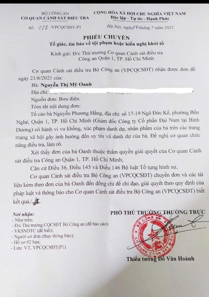 Thủy Tiên - Công Vinh chính thức gửi đơn tố cáo bà Nguyễn Phương Hằng lên Bộ Công an - Ảnh 5.