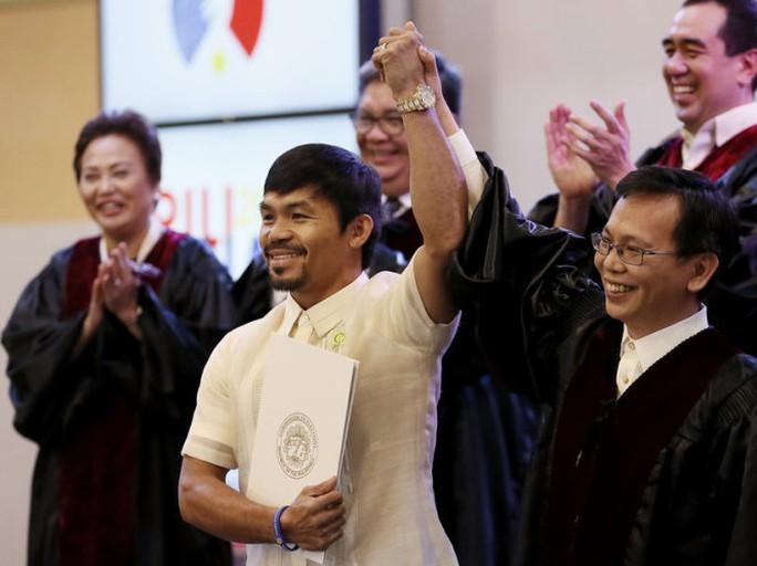 Võ sĩ huyền thoại Pacquiao giải nghệ, tuyên bố tranh cử Tổng thống - Ảnh 1.