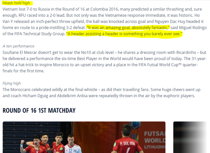 Truyền thông quốc tế ấn tượng màn trình diễn của tuyển futsal Việt Nam - Ảnh 3.