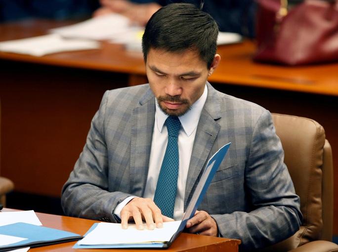 Võ sĩ huyền thoại Pacquiao giải nghệ, tuyên bố tranh cử Tổng thống - Ảnh 4.