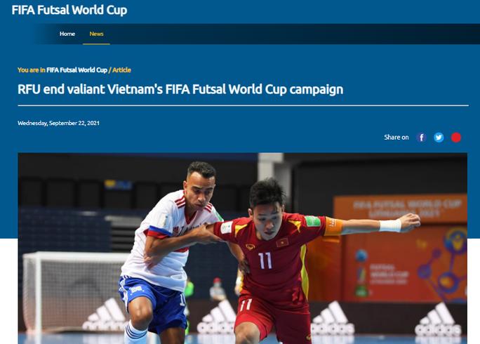 Truyền thông quốc tế ấn tượng màn trình diễn của tuyển futsal Việt Nam - Ảnh 1.