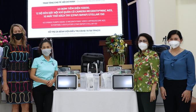 Hiệp hội Thương mại Mỹ ủng hộ nhiều trang thiết bị chống dịch cho TP HCM - Ảnh 1.