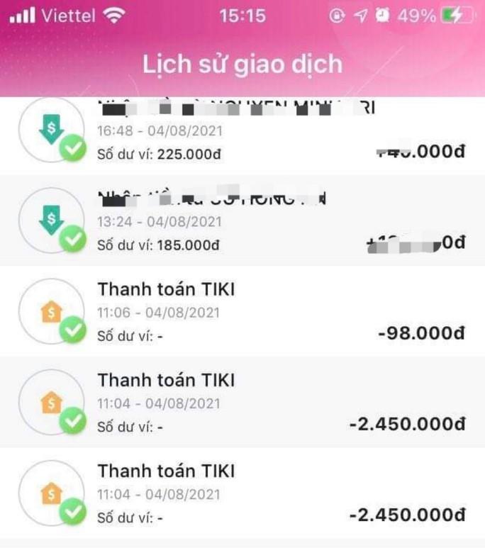 Người dùng ví điện tử bị lừa mất tiền vì chủ quan - Ảnh 1.