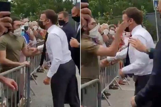 """Tổng thống Pháp Emmanuel Macron bị ném """"trứng"""" vào người - Ảnh 3."""