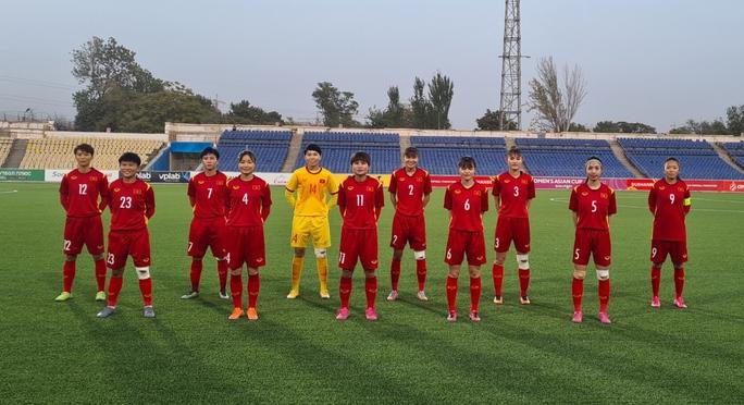Đè bẹp Tajikistan 7-0, Việt Nam giành suất dự VCK AFC Women's Asian Cup 2022 - Ảnh 1.