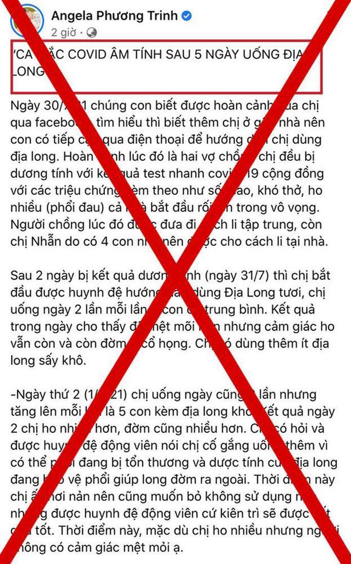 Angela Phương Trinh nhận sai vì đưa tin giun đất chữa Covid-19 - Ảnh 4.