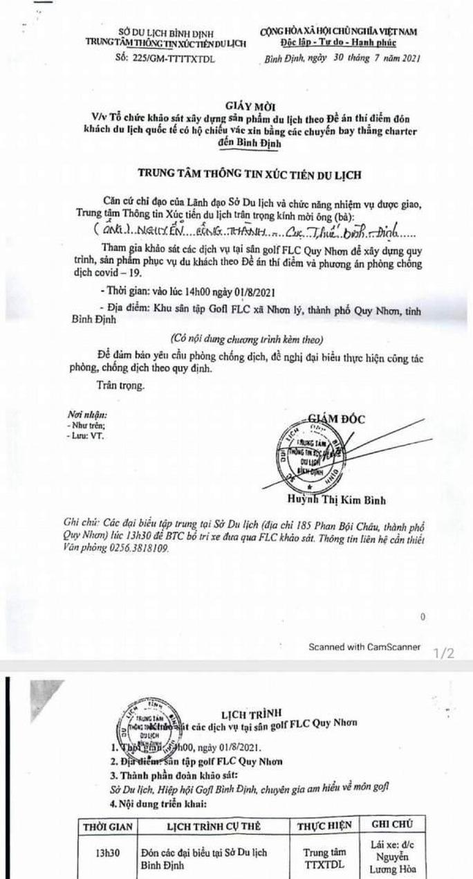 Nữ giám đốc ký giấy mời hợp thức hóa cấp trên chơi golf giữa lệnh cấm xuống làm nhân viên - Ảnh 2.