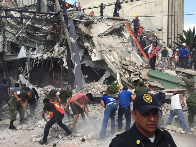 Động đất mạnh giáng xuống Mexico, hơn 210 người chết - Ảnh 7.