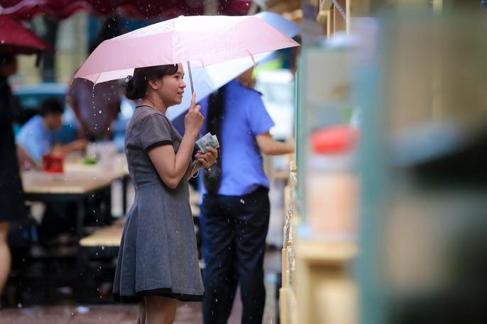 Hàng trăm người đội mưa đến phố hàng rong Bách Tùng Diệp - Ảnh 9.