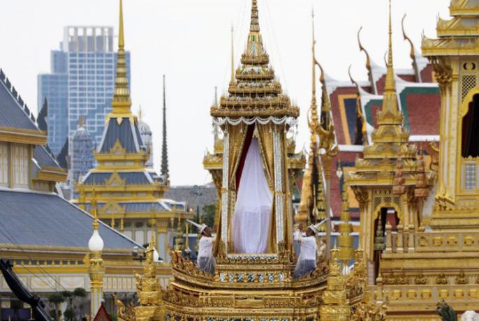 Thái Lan bắt đầu tang lễ Quốc vương Bhumibol Adulyadej - Ảnh 7.
