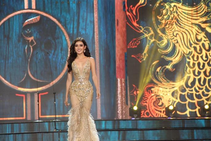 Huyền My nóng bỏng tại đêm sơ kết Hoa hậu Hòa bình Thế giới - Ảnh 10.