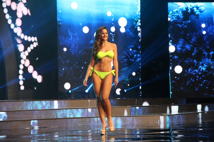 Huyền My nóng bỏng tại đêm sơ kết Hoa hậu Hòa bình Thế giới - Ảnh 3.