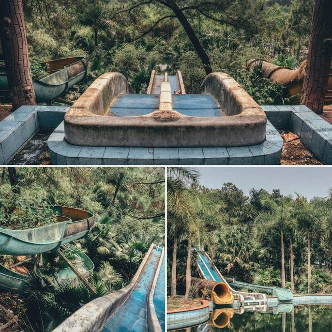 Khách nước ngoài đổ đến công viên nước bỏ hoang ở Huế - Ảnh 2.