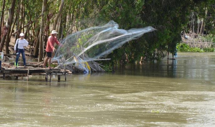 Xả đập, lũ cuồn cuộn chảy vào vùng Tứ giác Long Xuyên - Ảnh 5.