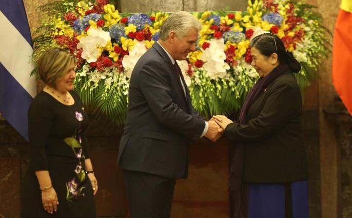 Cận cảnh Tổng Bí thư, Chủ tịch nước Nguyễn Phú Trọng đón Chủ tịch Cuba - Ảnh 17.