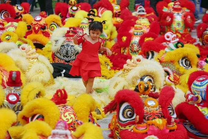 108 con lân đồng diễn, xếp hình Quốc kỳ xác lập kỷ lục Guinness Việt Nam - Ảnh 8.