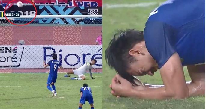 Clip: Vua phá lưới đá 11 m lên trời, Thái Lan mất vé chung kết cho Malaysia - Ảnh 7.