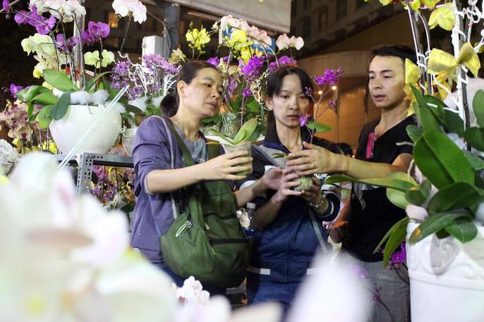 Người Sài Gòn rộn ràng tham quan chợ hoa trong đêm - Ảnh 6.