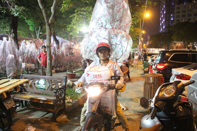 Người Sài Gòn rộn ràng tham quan chợ hoa trong đêm - Ảnh 1.
