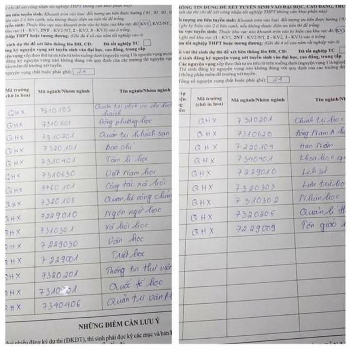 Thí sinh gây tranh cãi khi đăng ký… 24 nguyện vọng - Ảnh 1.