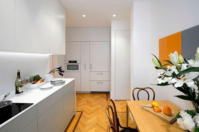 Nhà bếp nhỏ đa chức năng của căn hộ này khiến ai thấy cũng mê - Ảnh 3.