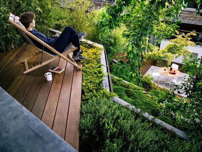 Khu vườn thiết kế kiểu ruộng bậc thang ai thấy cũng mê - Ảnh 13.