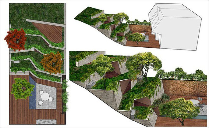 Khu vườn thiết kế kiểu ruộng bậc thang ai thấy cũng mê - Ảnh 15.