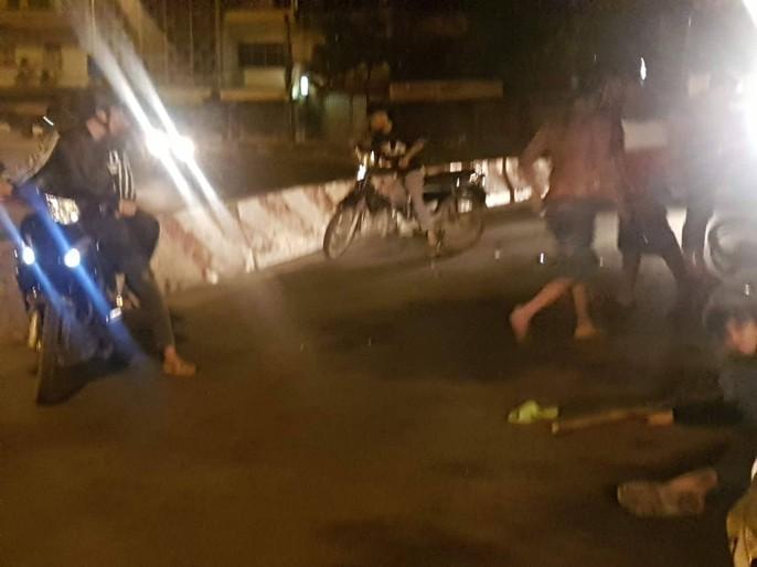 VIDEO: Đoàn quái xế tông hàng loạt người lúc rạng sáng - Ảnh 2.
