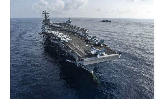 Tàu sân bay Mỹ - Nhật tập trận chung ở biển Đông - Ảnh 1.