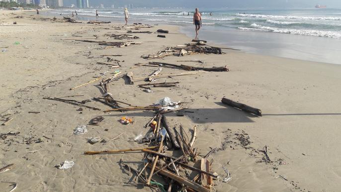 Hơn 7 tấn rác thải bủa vây 8km bờ biển Đà Nẵng - Ảnh 6.