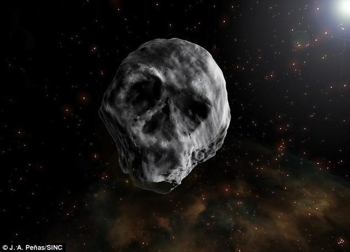 Tiểu hành tinh đầu lâu tiến gần trái đất - Ảnh 1.