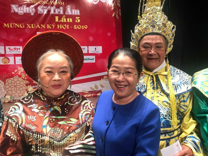 NSND Kim Cuong roi nuoc mat trong Chuong trinh Nghe si tri am