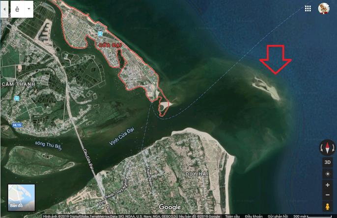 Đảo khủng long ở Cửa Đại tiếp tục rộng ra, bồi về 3 hướng - Ảnh 3.