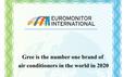 GREE 6 năm liền đạt chứng nhận thương hiệu điều hòa số 1 thế giới