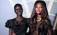 """""""Báo đen"""" Naomi Campbell gợi cảm với đầm xuyên thấu"""