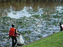 Hồ Xuân Hương đầy rác, cạn bất thường