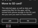 Di chuyển ứng dụng sang thẻ nhớ trên Windows Phone
