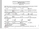 Gợi ý giải đề môn vật lý