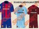 Lộ diện áo đấu mới của Barcelona mùa giải 2017-2018