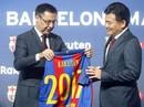 """Pique chuyển nghề """"môi giới"""", Barcelona nhận tài trợ khủng"""