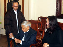 Ông Hàn Đức Long đến cảm ơn nguyên Tổng Bí thư Lê Khả Phiêu